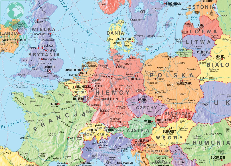 Mapa Polityczna Europy Stan Na 2019 Mapa Scienna 160x120 Cezao Pl