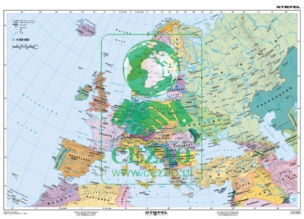 Europa Polityczna Konturowa J Ros Cezaopl