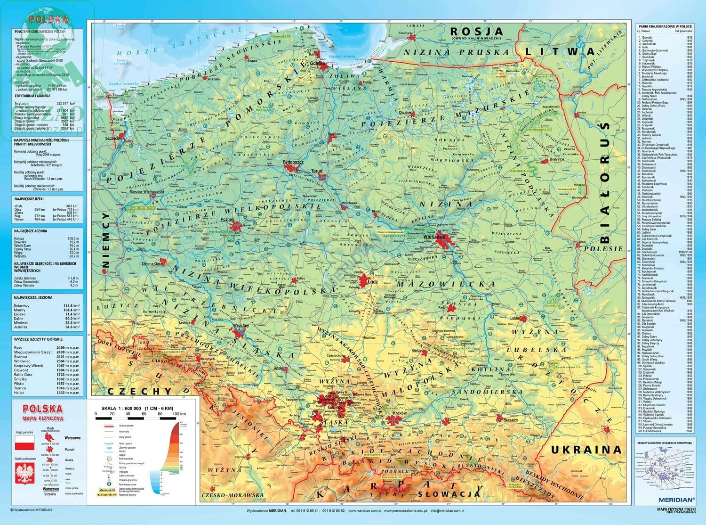 Mapa Polski Bieszczady