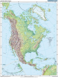 North America physical 120 x 160