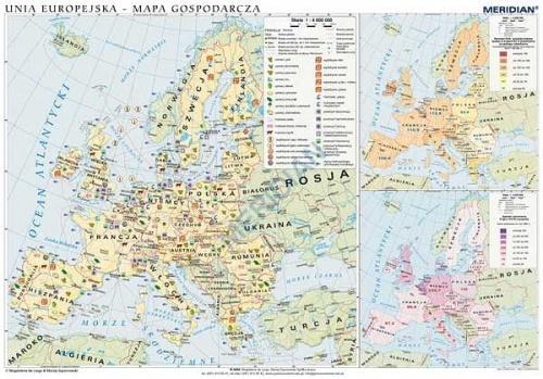 Unia Europejska Scienna Mapa Gospodarcza 160x120 Cezao Pl